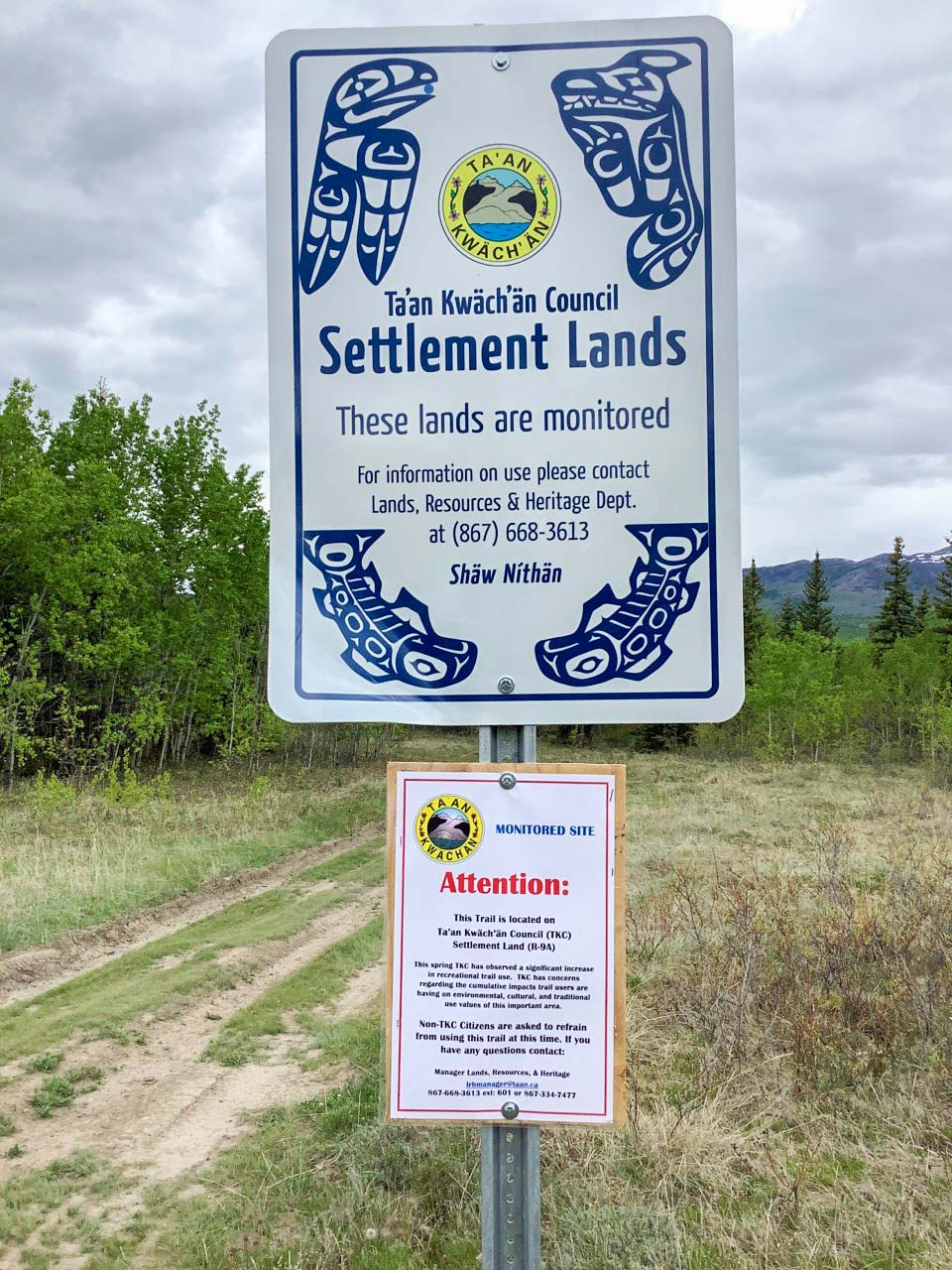 Settlement Lands Signage